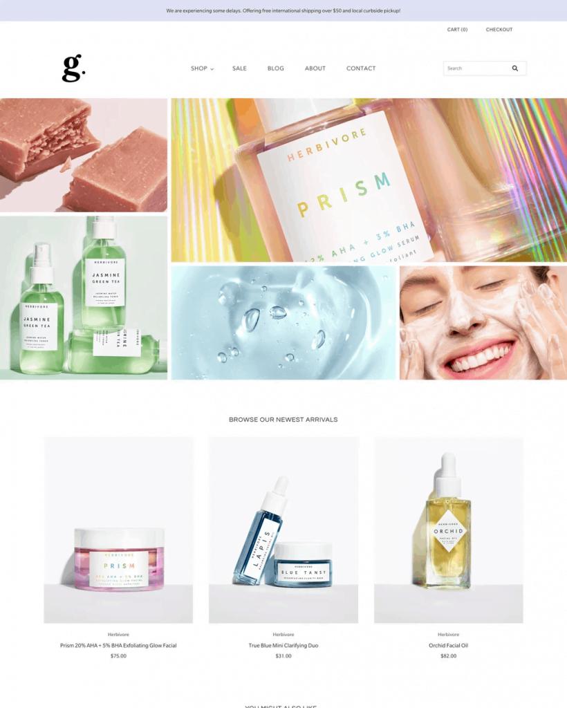Grid Shopify theme