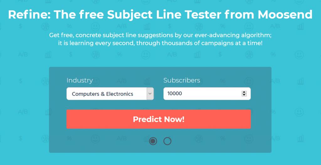 Moosend Subject Line Tester