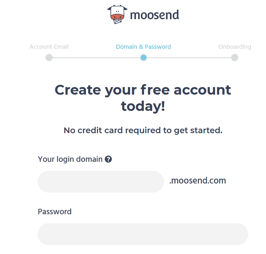 Moosend login domain