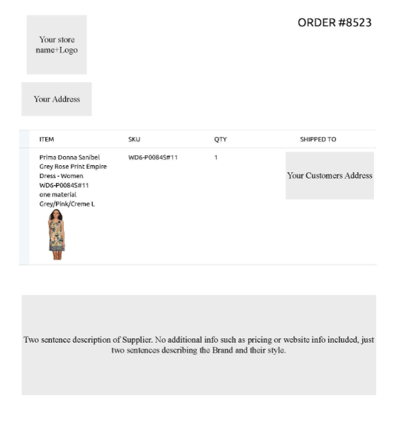 Sample Modalyst Invoice