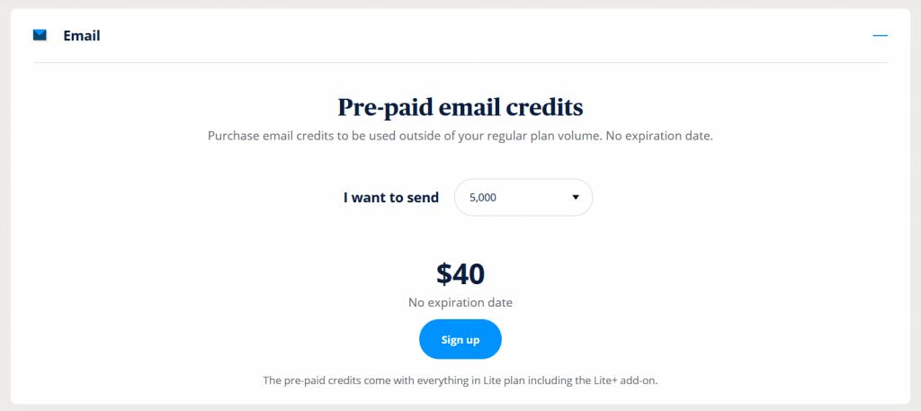 Sendinblue Prepaid plans